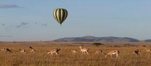Hot Air balloon safari in Masa Mara is breathtaking